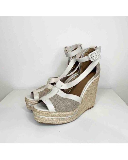 Sandali in Tela di Hermès in Gray