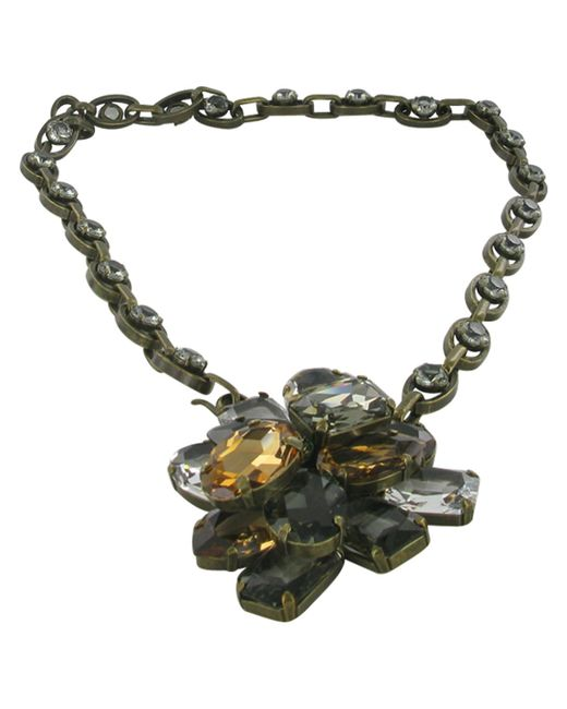 Lanvin - Metallic Pre-owned Metal Necklace - Lyst
