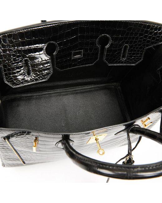 Hermès Black Birkin 35 Krokodil Handtaschen