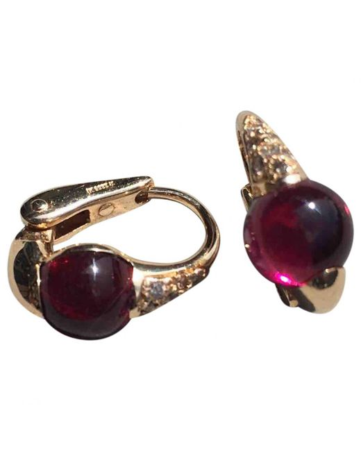 Pomellato - M'ama Non M'ama Red Pink Gold Earrings - Lyst