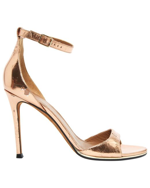 Givenchy | Metallic Pre-owned Patent Leather Sandals | Lyst
