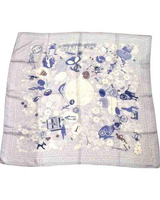 Chanel - Blue Silk Handkerchief - Lyst