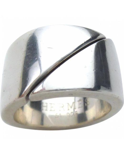 Hermès - Metallic Silver Silver Ring - Lyst