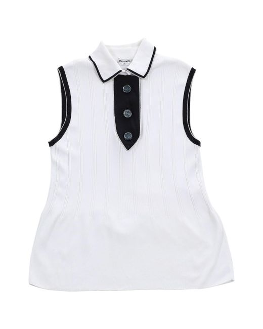 Chanel - Pre-owned White Cotton Tops - Lyst