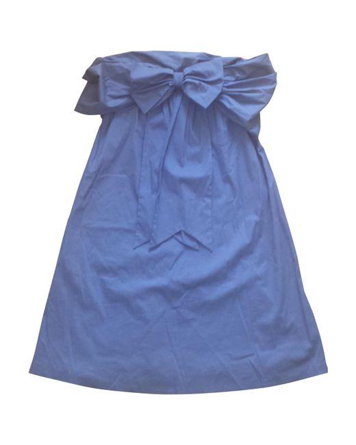 Jean Paul Gaultier | Blue Pre-owned Bustier Dress | Lyst