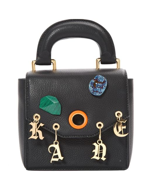 Christopher Kane Black Leather Handbag