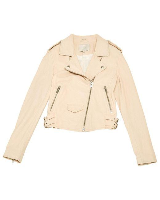 IRO Natural Beige Leather Jacket