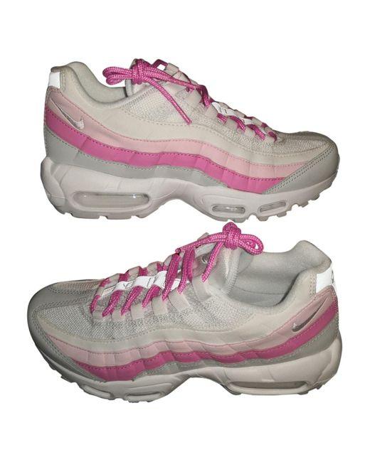 Nike Deportivas Air Max 95 de Lona de mujer de color rosa