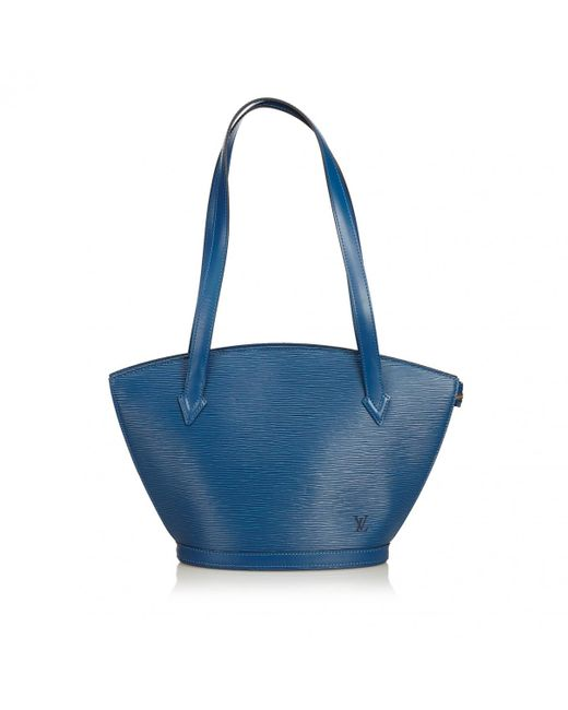 Louis Vuitton - Pre-owned Vintage Blue Leather Handbags - Lyst