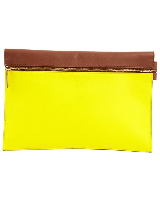 Victoria Beckham Yellow Multicolour Leather
