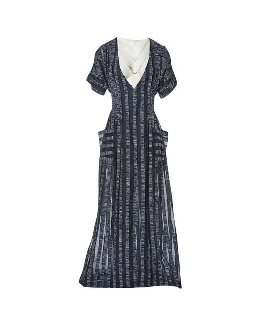 Natasha Zinko Blue Navy Cotton Dress