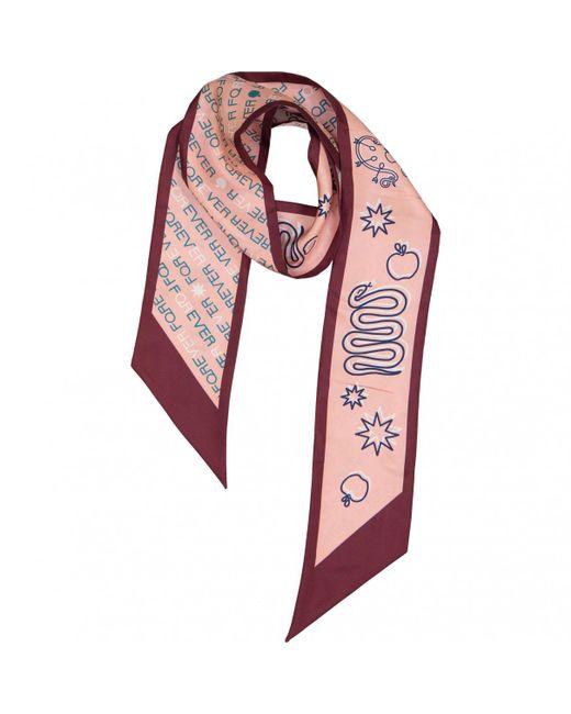 BVLGARI - Pink Silk Scarf - Lyst