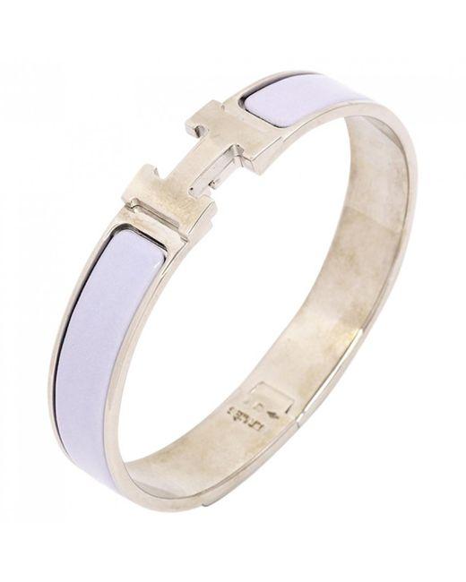 Hermès - Clic H Purple Metal Bracelets - Lyst