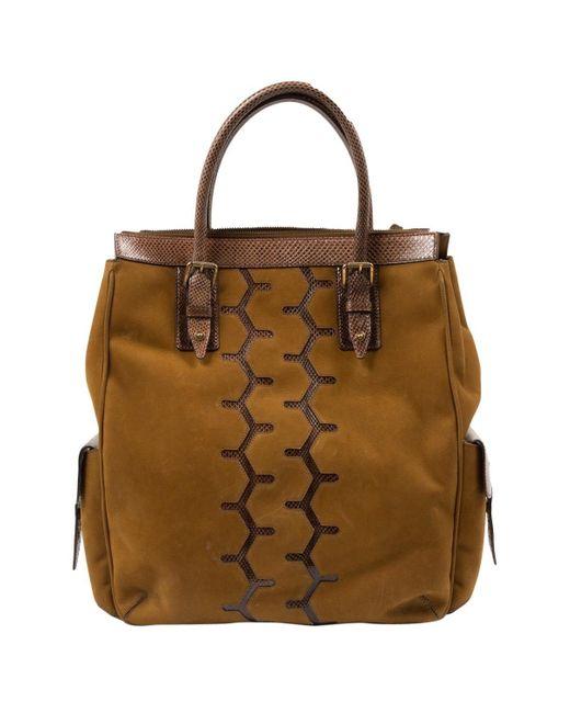 Belstaff Brown Suede Handbag