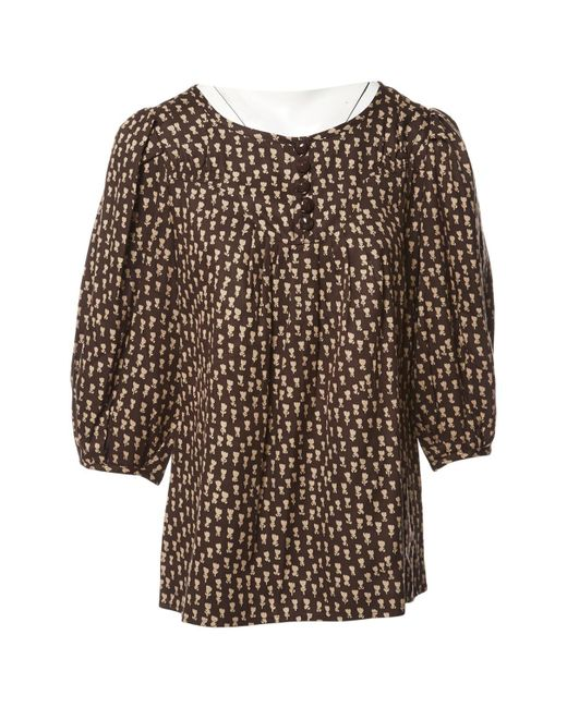 Marc By Marc Jacobs - Brown Pre-owned Silk Blouse - Lyst