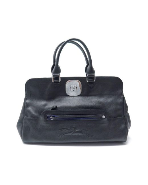 Longchamp Gatsby Black Leather Handbag