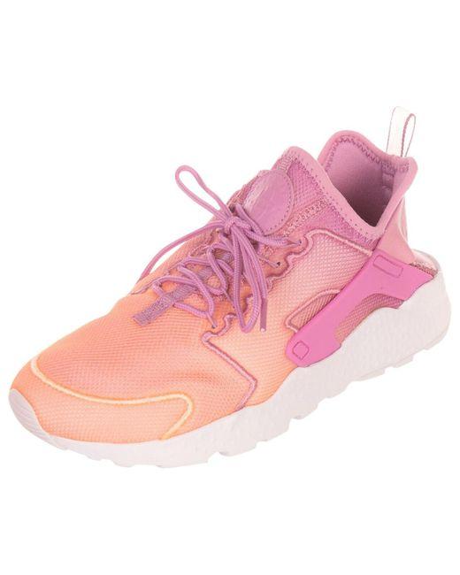 Nike Pink Huarache Leinen Sneakers