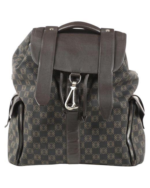 Loewe Backpack Brown Cloth