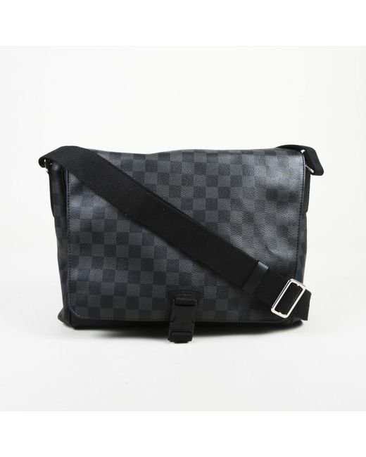 Louis Vuitton Black Cloth Bag in Black for Men - Lyst 50e75d4888eea