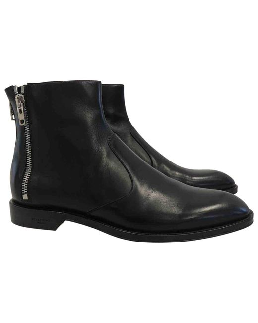 Givenchy - Black Pre-owned Leather Boots for Men - Lyst