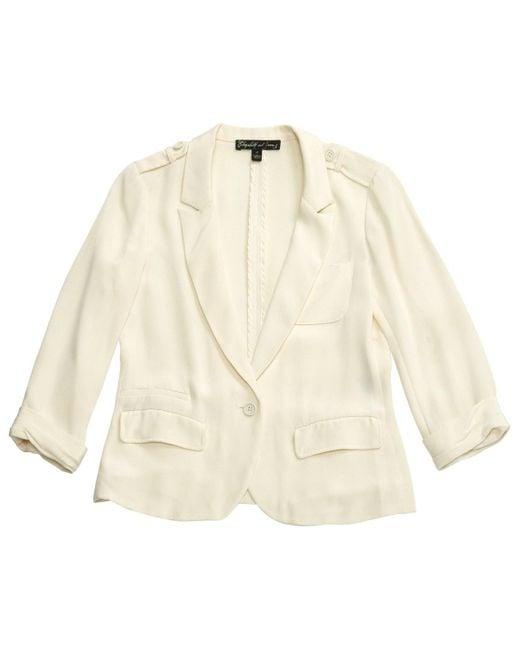 Elizabeth and James \n White Silk Jacket