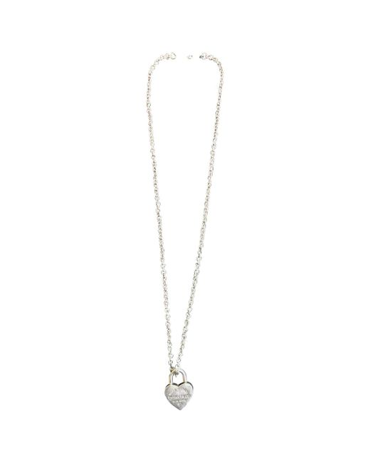 Tiffany & Co Multicolor Return To Tiffany Silver Necklace