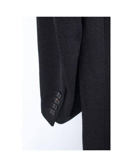 Mantel en Coton Noir Dior pour homme en coloris Blue
