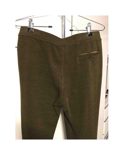 Étoile Isabel Marant Pantalons en Coton Kaki femme de coloris vert mbsXd