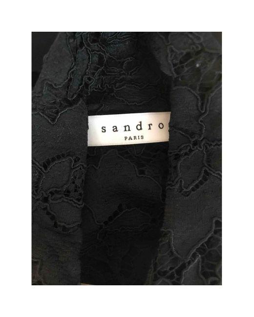 Sandro Top en Synthétique Noir femme qiCtx