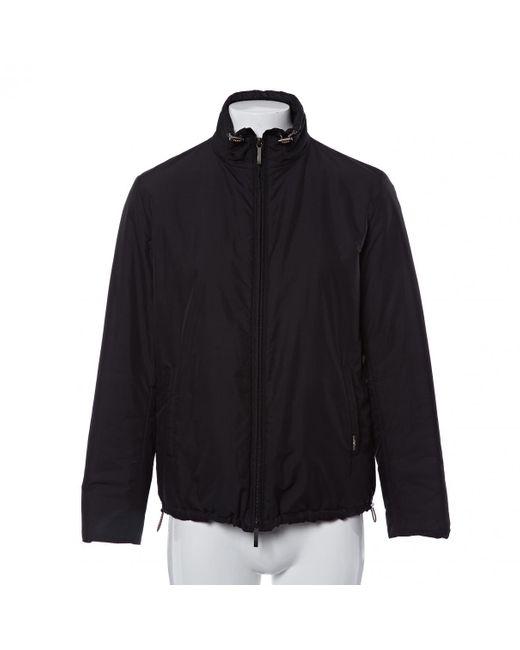 Burberry Black Jacke.Blouson Polyester Schwarz