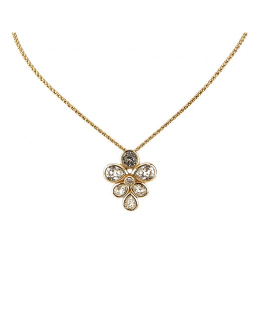 Dior - Metallic Pre-owned Gold Metal Necklaces - Lyst