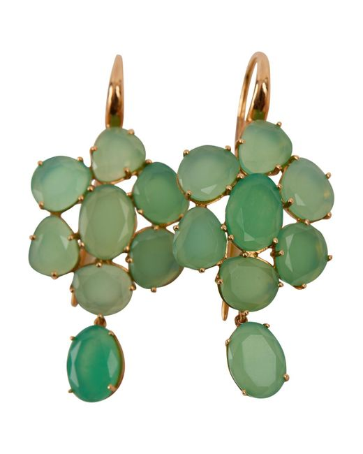 Pomellato - Pre-owned Capri Green Pink Gold Earrings - Lyst