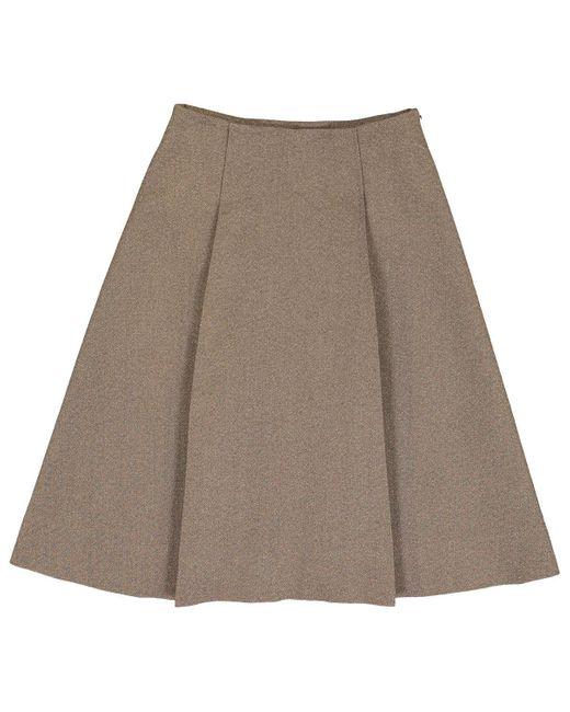 Marni Brown Wool Skirt