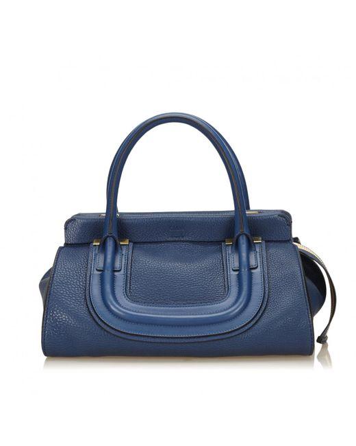 Chloé - Blue Leather Handbag - Lyst