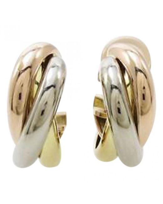 Cartier | Metallic Yellow Gold Earrings | Lyst