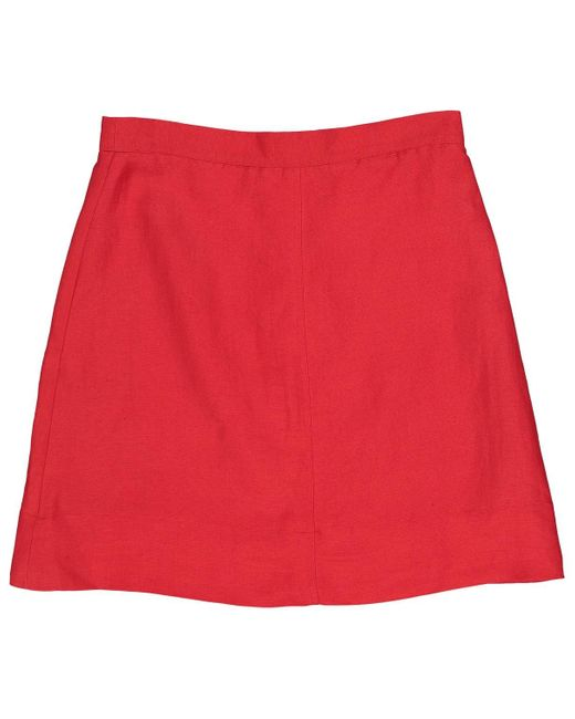 Burberry Red Cotton Skirt