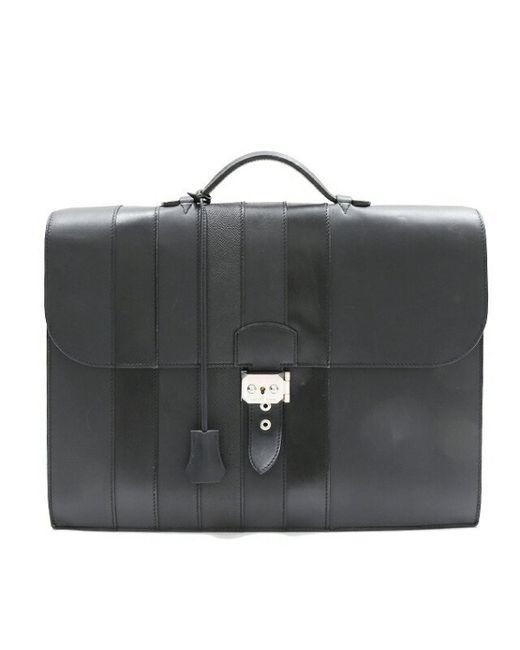 Hermès Black Leather Handbag