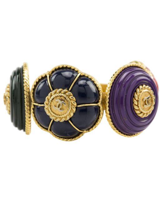 Chanel   Blue Pre-owned Multicolour Metal Bracelet   Lyst