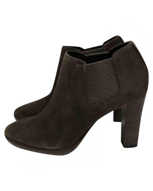Loro Piana - Brown Suede Ankle Boots - Lyst