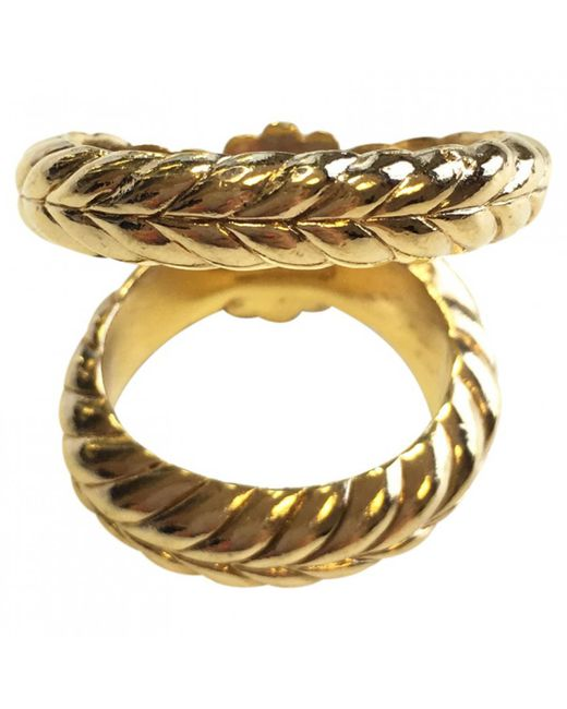 Dior - Metallic Pre-owned Scarf Ring - Lyst