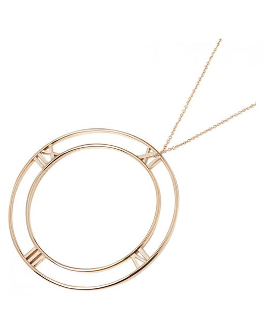 Tiffany & Co - Atlas Pink Gold Necklace - Lyst