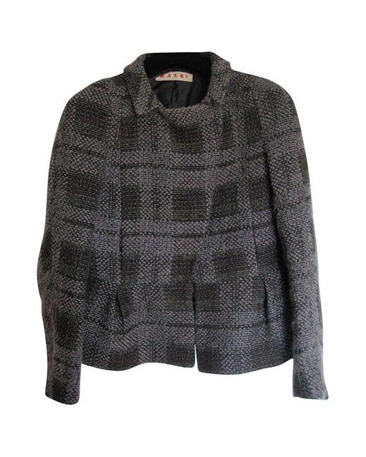 Marni Gray Grey Wool Jacket