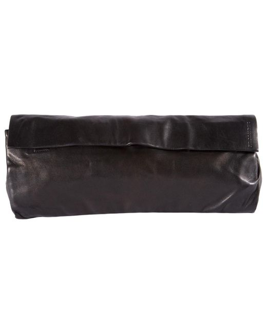 Jil Sander Black Leather Handbag