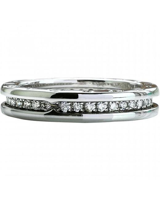BVLGARI - Metallic B.zero1 White Gold Ring - Lyst