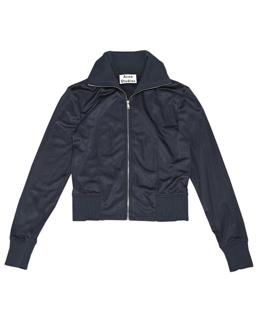 Acne Blue Navy Polyester Jacket