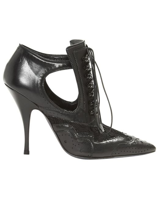 Givenchy - Black Leather Lace Up Boots - Lyst