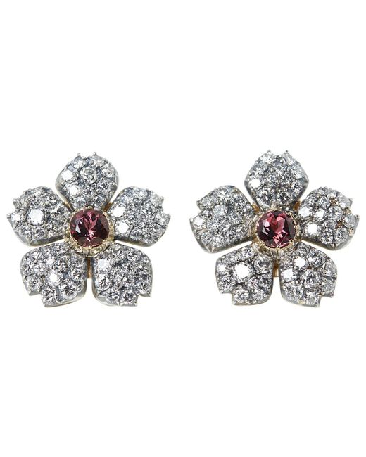 Cartier - Pre-owned White Gold Earrings - Lyst