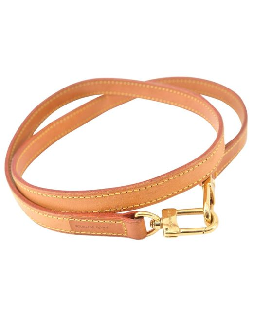 c6feac886dfe Lyst - Louis Vuitton Pre-owned Beige Leather Purses