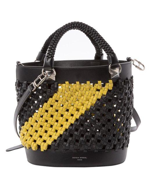 Sonia Rykiel Black Leather Handbag
