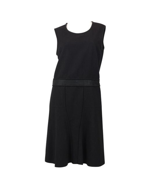 Jil Sander Black Wool Dress